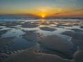 Masja Prinsen - zonsondergang aan de kust Texel