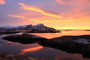 Zonsondergang Andenes Noorwegen